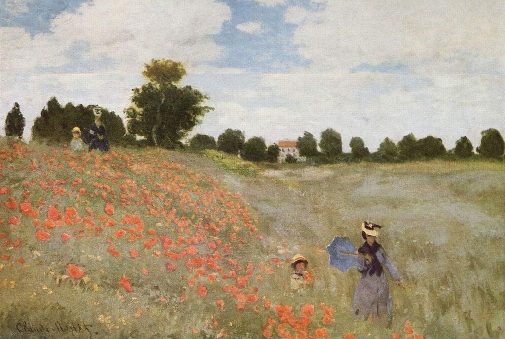 Campo de amapolas de Monet