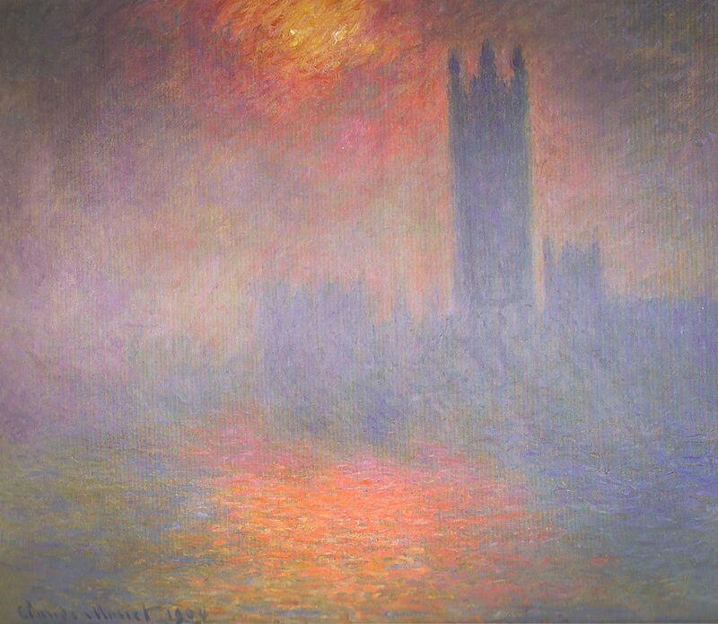 """""""Parlamento de Londres"""" de Monet"""