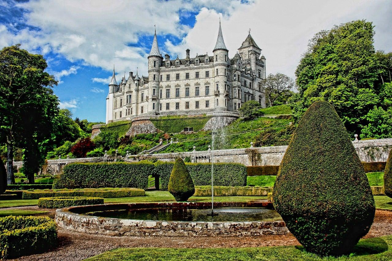 Castillo de Dunrobin en Escocia