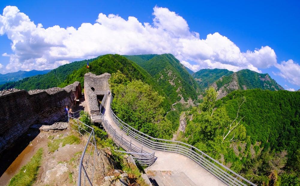 Castillo Poienari en Transilvania