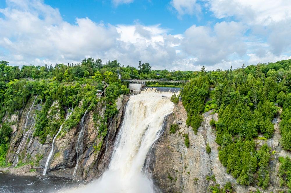 Cataratas Montmorency en Canadá