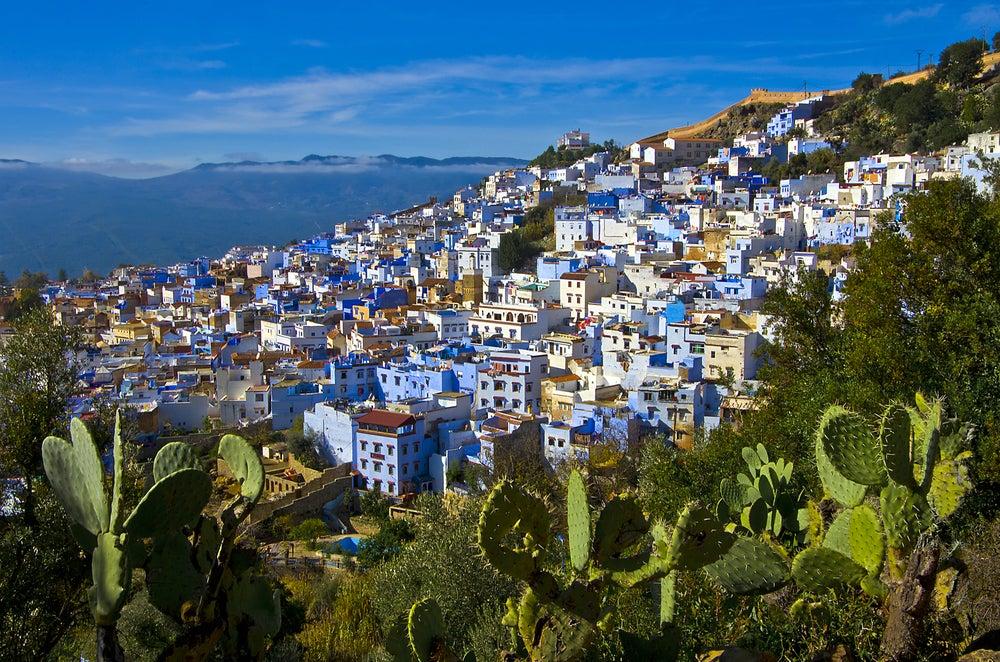 Vista de Chaouen en Marruecos