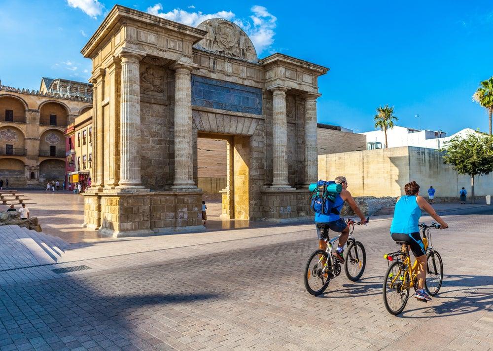 Ciclistas en Córdoba
