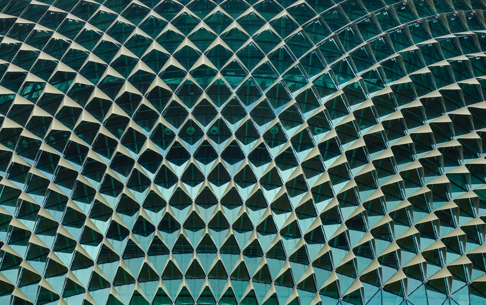 Detalle del tejado del Teoatro Ópera Esplanade
