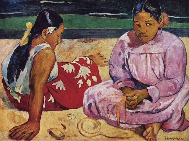 En la playa de Paul Gauguin