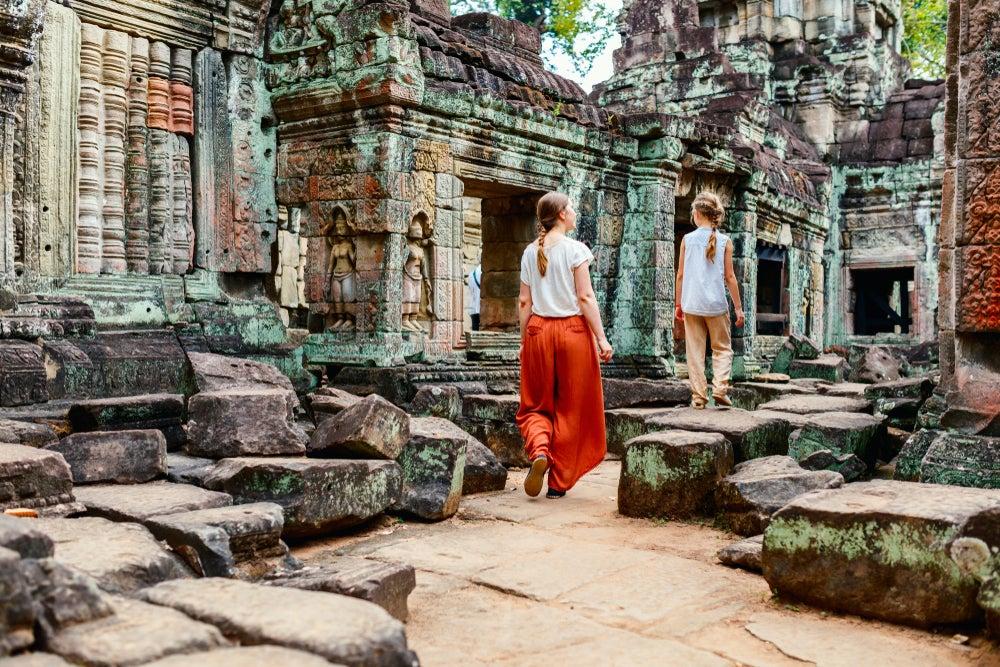 Familia en Anngkor Wat