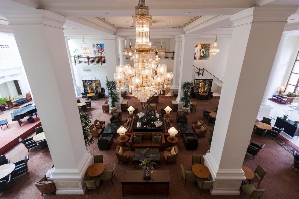Hall del Hotel Raffles