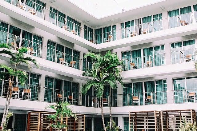 Terrazas en un hotel