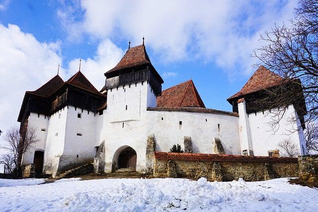 Iglesia de Viscri en Transilvania