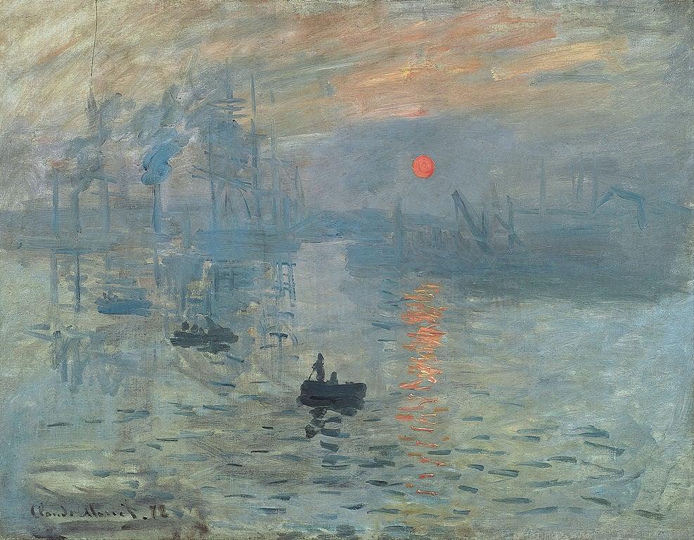 Impresión, sol naciente de Monet