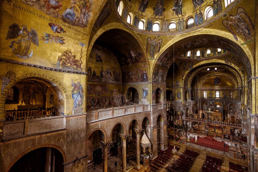 Interior de la basílica de San Marcos de Venecia