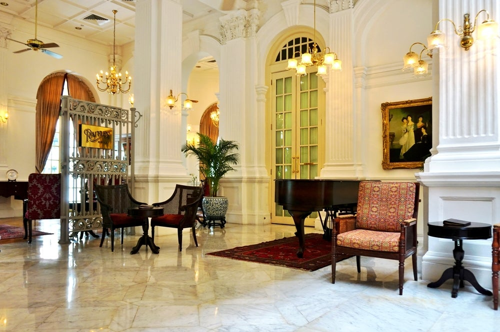 Interior del Hotel Raffles