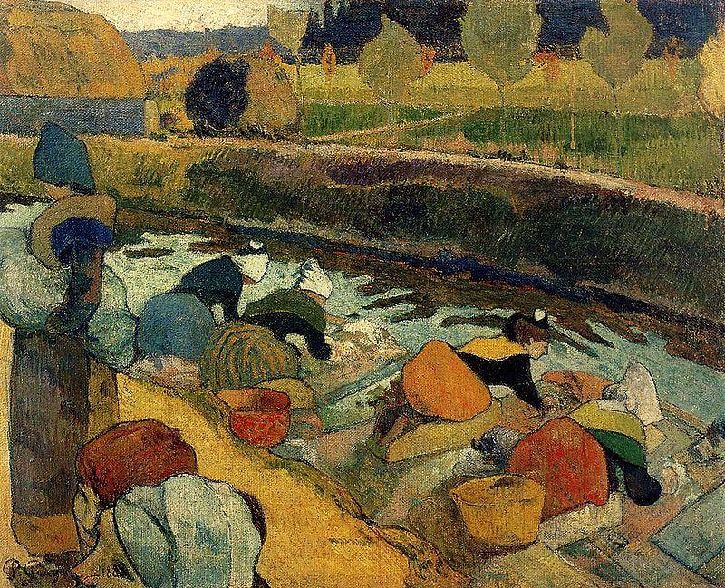 Las lavanderas de Arlés de Paul Gauguin