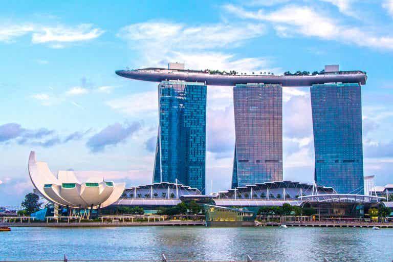 El hotel Marina Bay Sands: una hermosa vista del atardecer