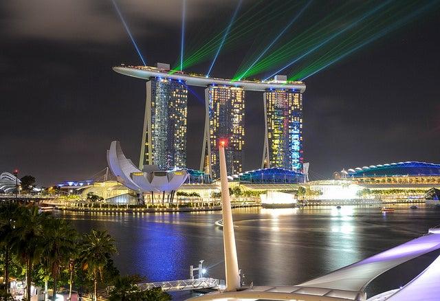 Marina Bay Sands por la noche
