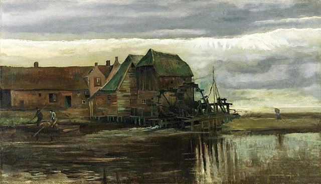 Molino de agua en Gennep de Vincent van Gogh