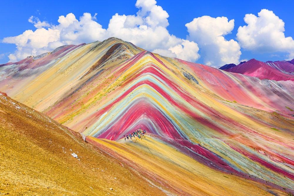 Montaña Arcoiris en Perú