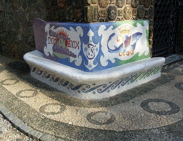 Mosaicos en la Torre Belleguard