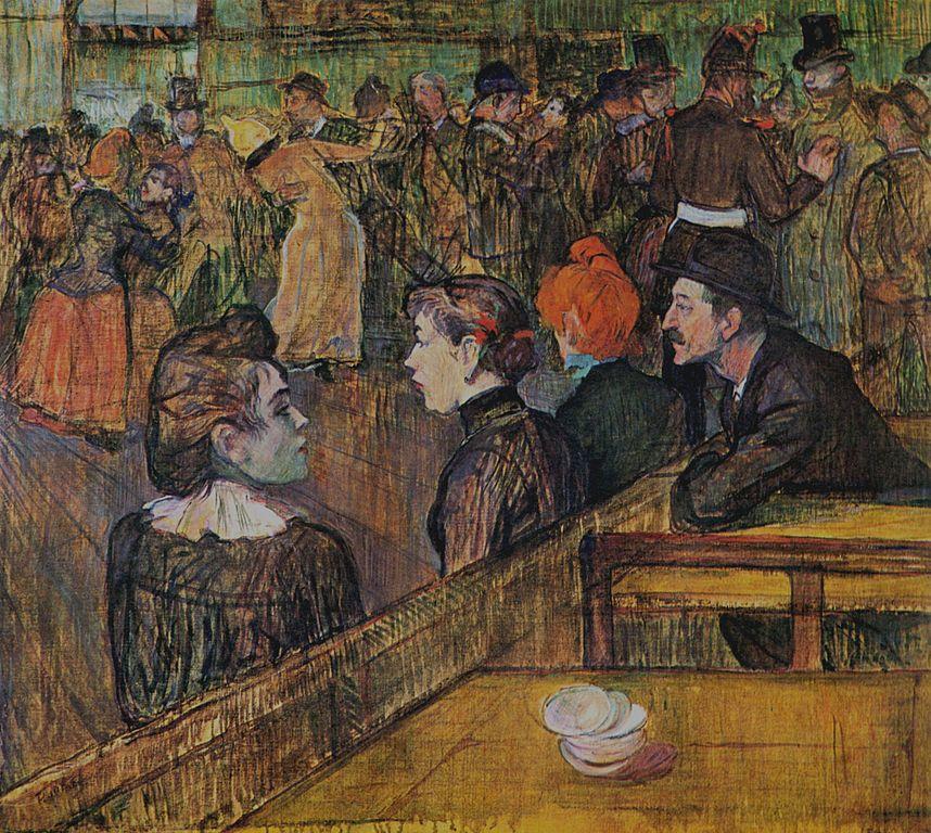 """""""Au Moulin de la Galette"""" de Toulouse-Lautrec"""
