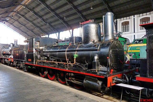 Locomotora en el Museo del Ferrocarril de Madrid