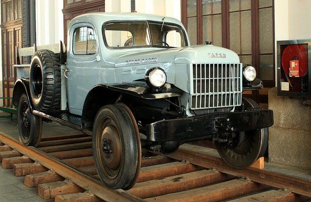 Vehículo diesel en el Museo del Ferrocarril de Madrid