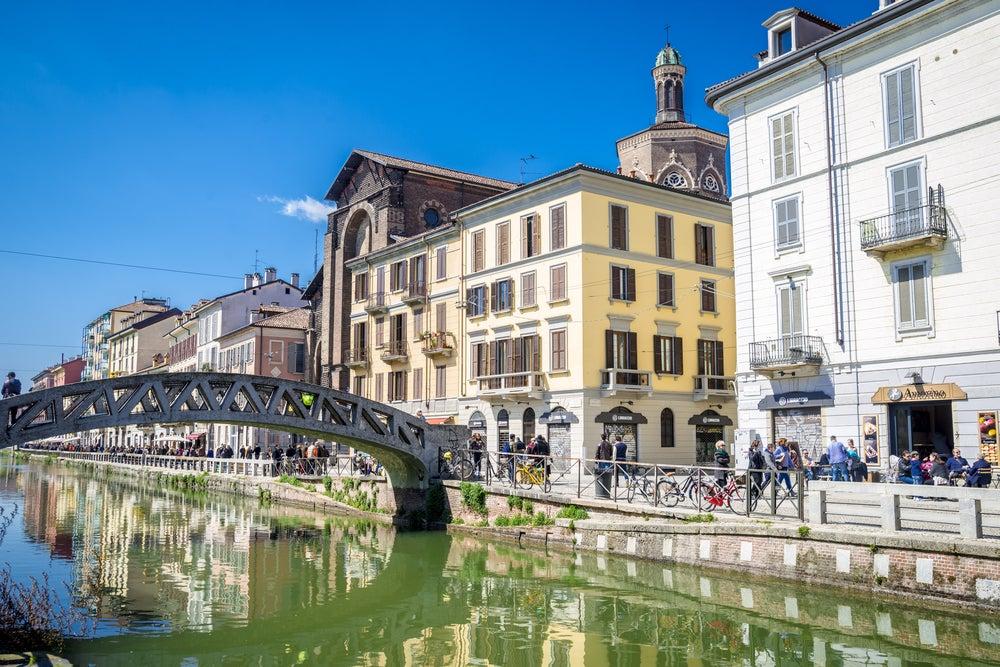 Naviglio Grande en Milán
