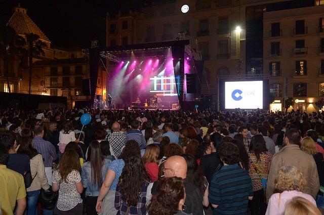 Actuación en la Noche en Blanco de Málaga