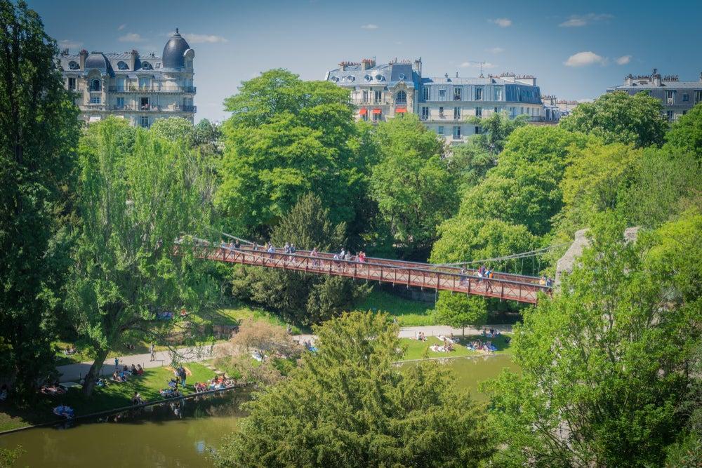 Parque Buttes-Chaumont en París