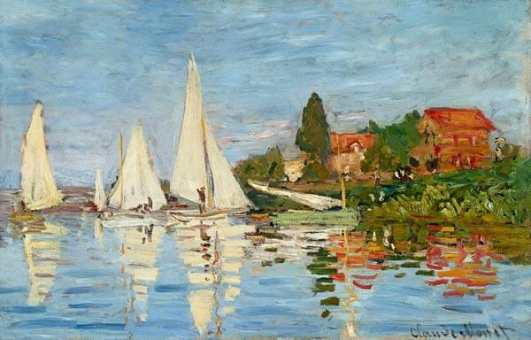 """""""Regatas en Argentouil"""" de Monet"""