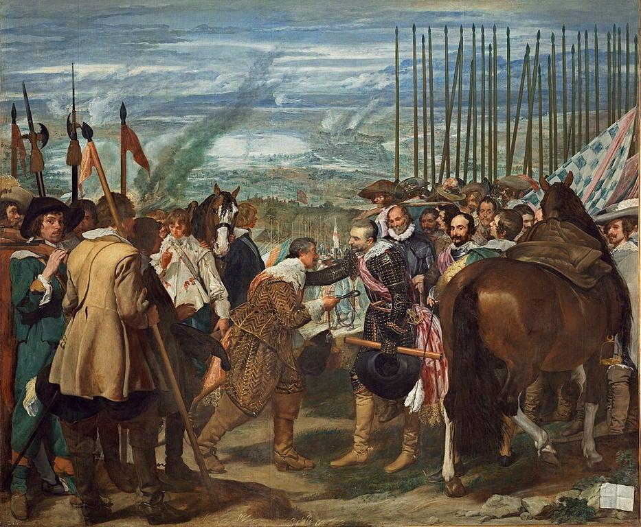 La rendición de Breda, de Diego Velázquez