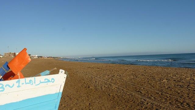 Playa de Sisía en el norte de Marruecos