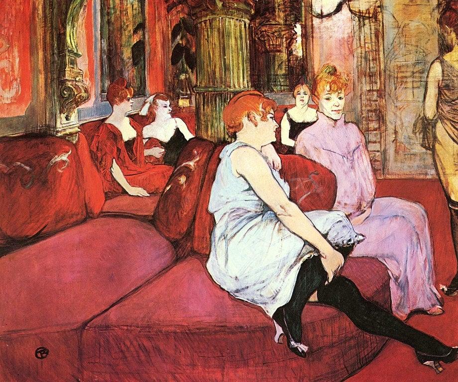 """""""Au salon de la rue des Molins"""" deToulouse-Lautrec"""