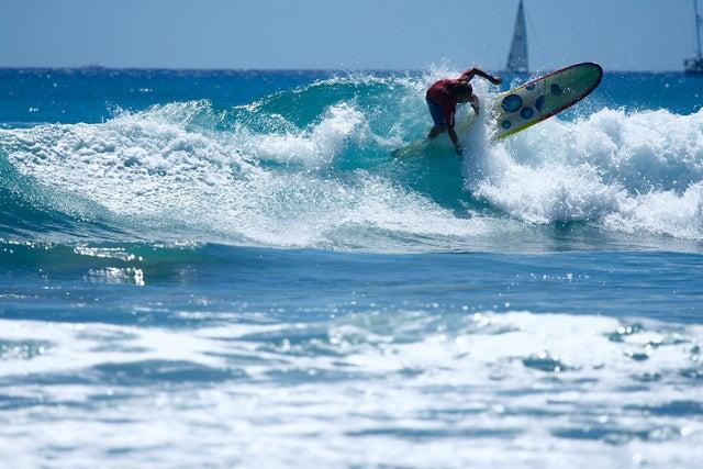 Surfista en Waikiki