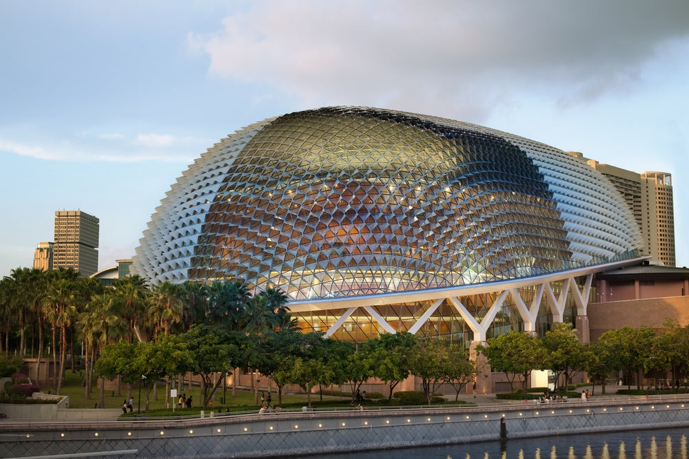 El Teatro Ópera Esplanade de Singapur, un edificio singular
