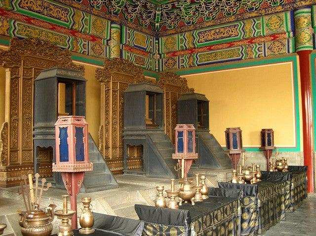 Interior del Templo del cielo de Pekín