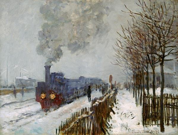 """""""Tren en la nieve"""" de Monet"""