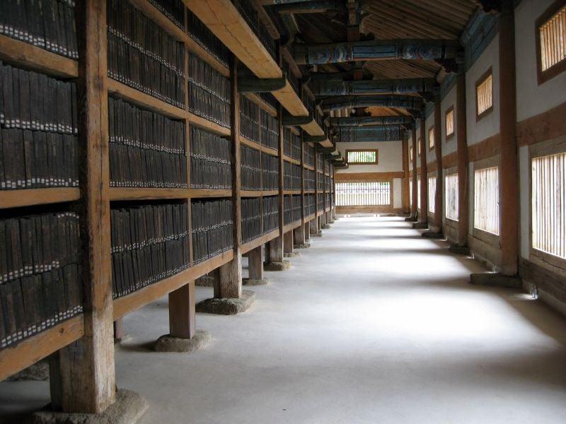 Tripitaka Coreana, una de las bibliotecas más impresionantes