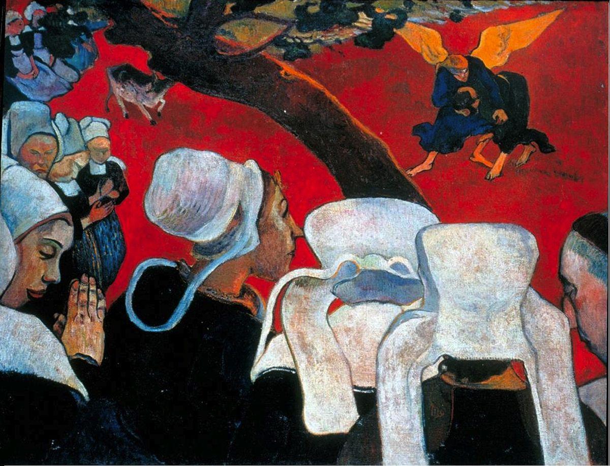 La visión tras el sermón de Paul Gauguin
