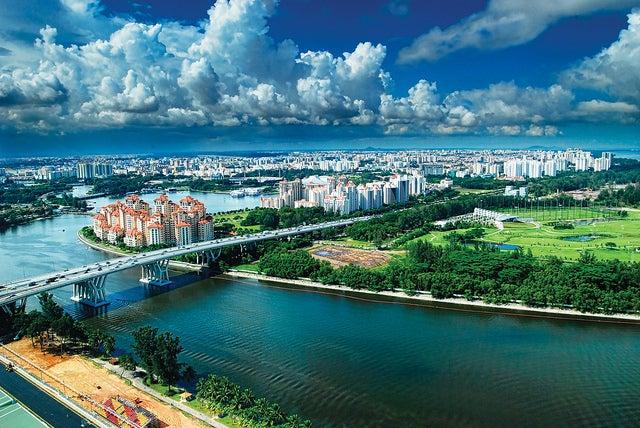Vista desde la Singapur Flyer