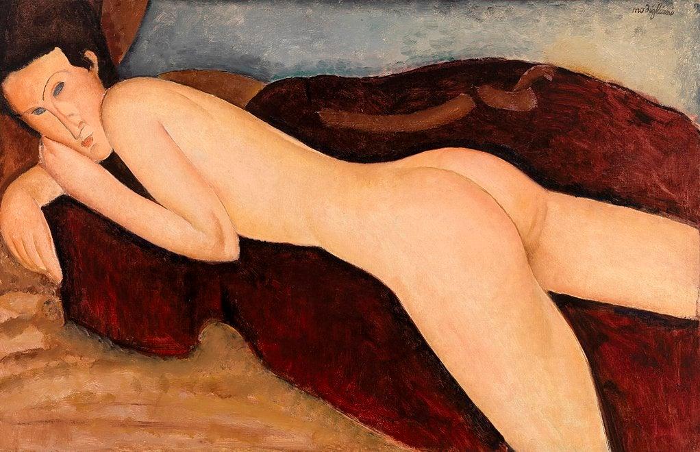 Desnudo reclinado desde la parte posterior de Modigliani