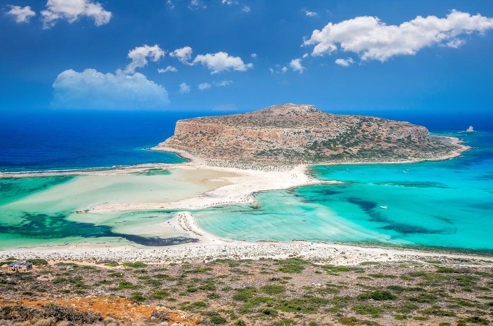 Balos en la isla de Creta en Grecia