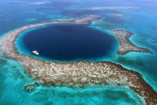 Blue Hole en Belice, uno de los lugares extremos del mundo