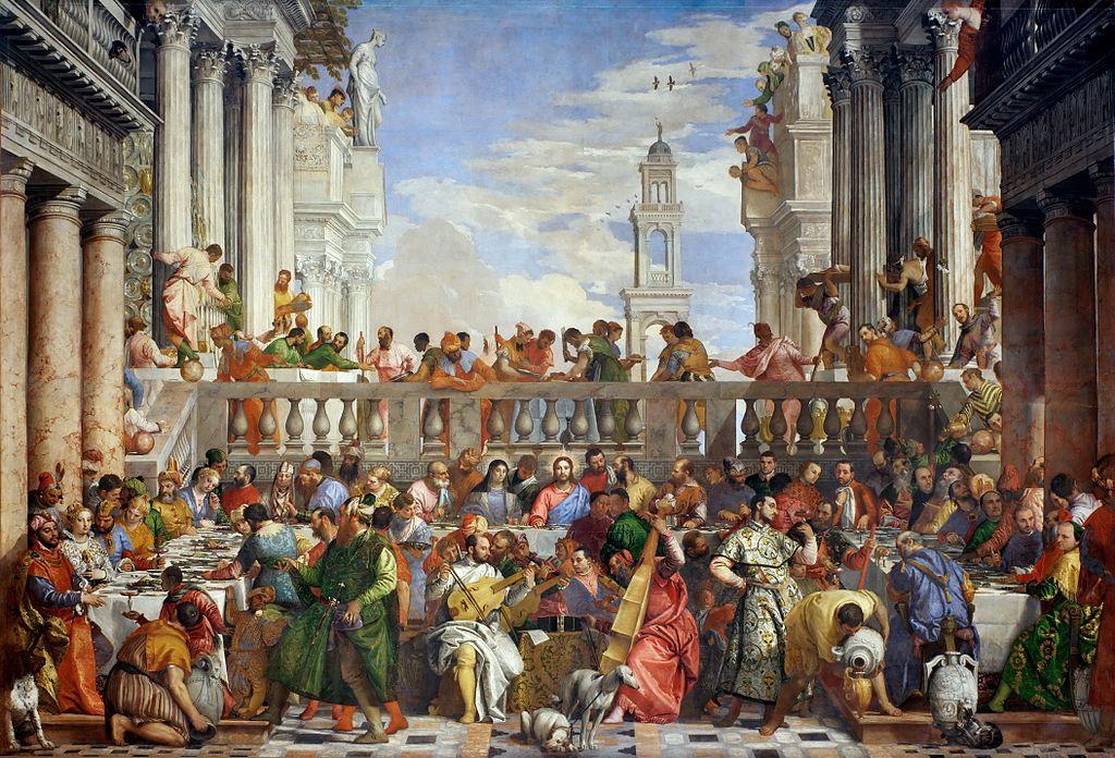 Bodas de Caná en el Louvre