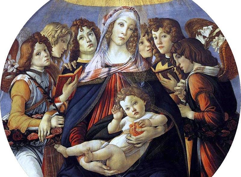 Virgen de la Granada de Botticelli