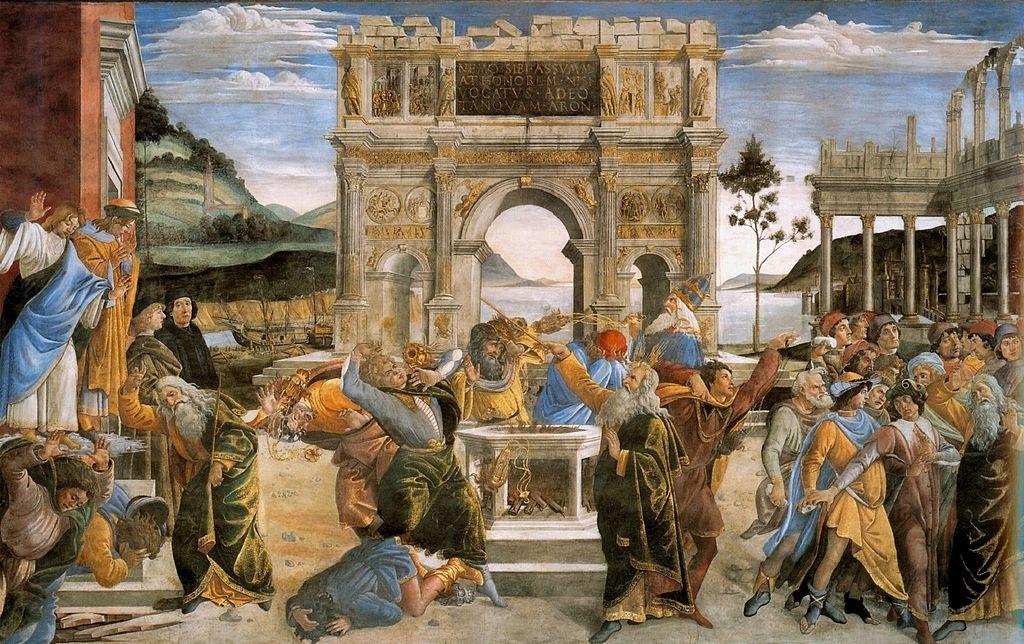 Castigo de Core de Botticelli
