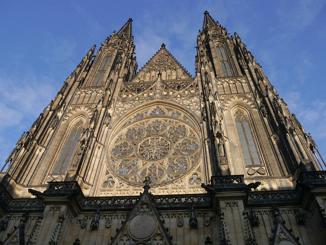 Fachada de la catedral de San Vito de Praga