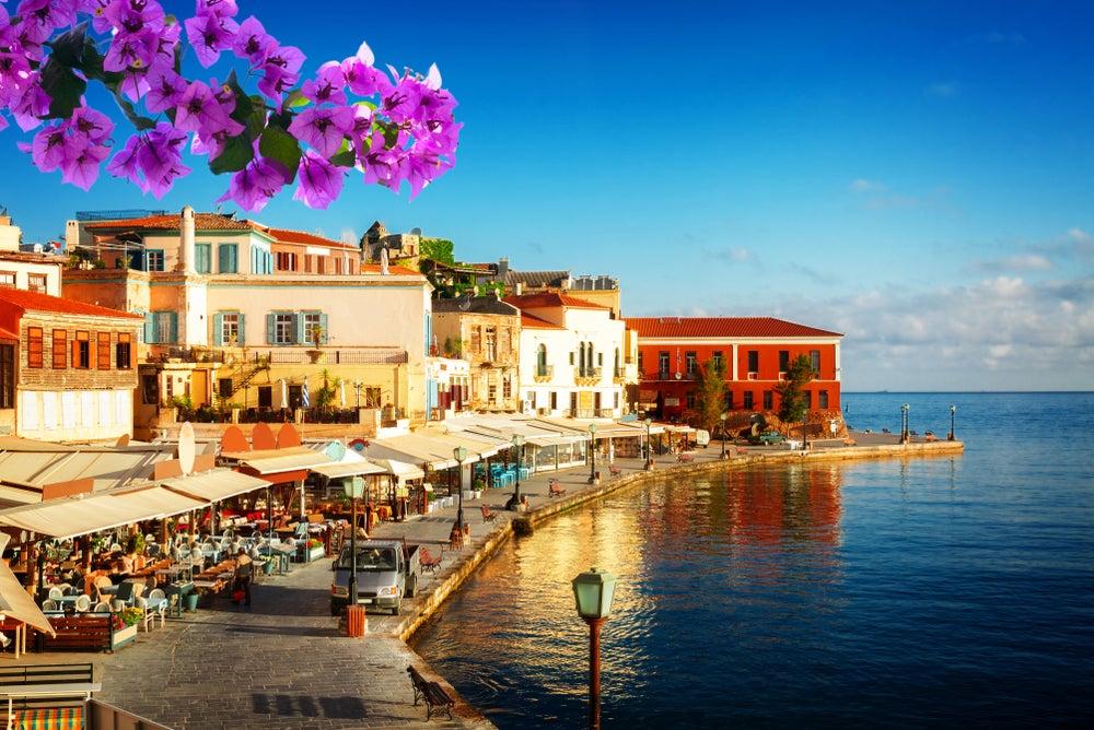 Chania en la isla de Creta