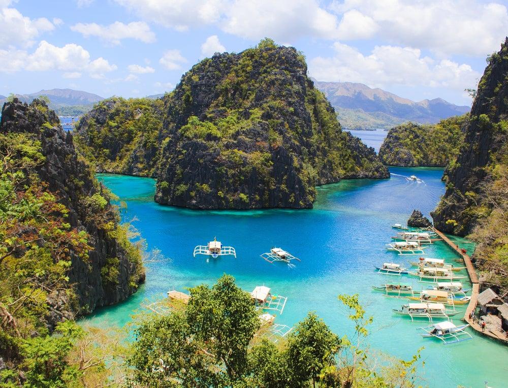 Isla de Corón en Filipinas