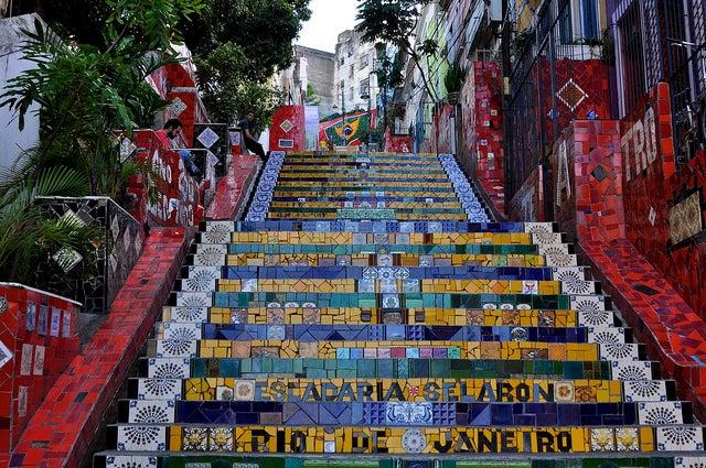 Escalera de Selaron en Río de Janeiro