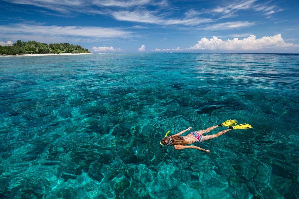 Esnorquel en las islas Gili